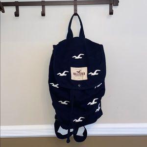 Hollister Navy Backpack